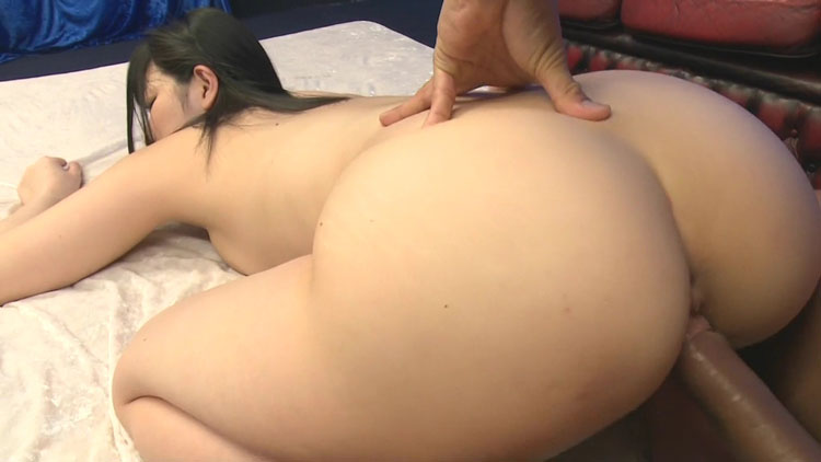 Super hot perfect tits babe with asian look ride big cock dude